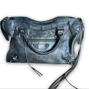 Balenciaga  City Classic Studs Bag Leather Small